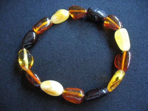 Amber - Spiral Bracelet - Nugget mixed color