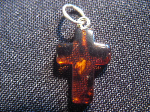 Amber - Cross Pendant