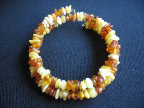 Amber - Spiral Bracelet - mixed colour