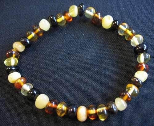 Amber - Bracelet - Button - Mixed Colour