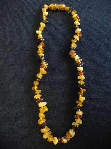 Small Amber Necklace - mixed colours