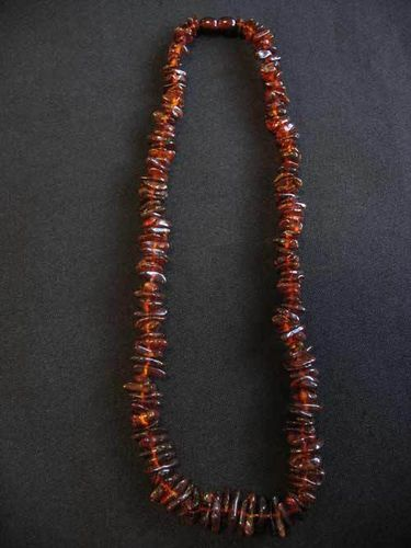Amber - Necklace - 45 cm - dark