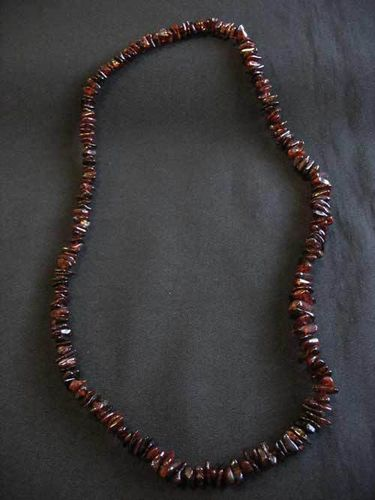 Amber - Necklace - 70 cm - dark