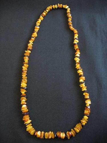 Amber - Necklace - 70 cm - mixed colours