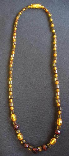 Amber - Necklace - Spheres and Rolls